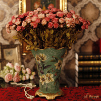 style of the ancient ceramic painting whole floral flower simulation Flower Bridal decoration set special offer