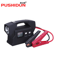 PUSHIDUN Truck Jump Starter 24V 26600mAh 1300A Peak Battery Charger for Bus Truck With Ordinary Clamps And One in One USB Cable