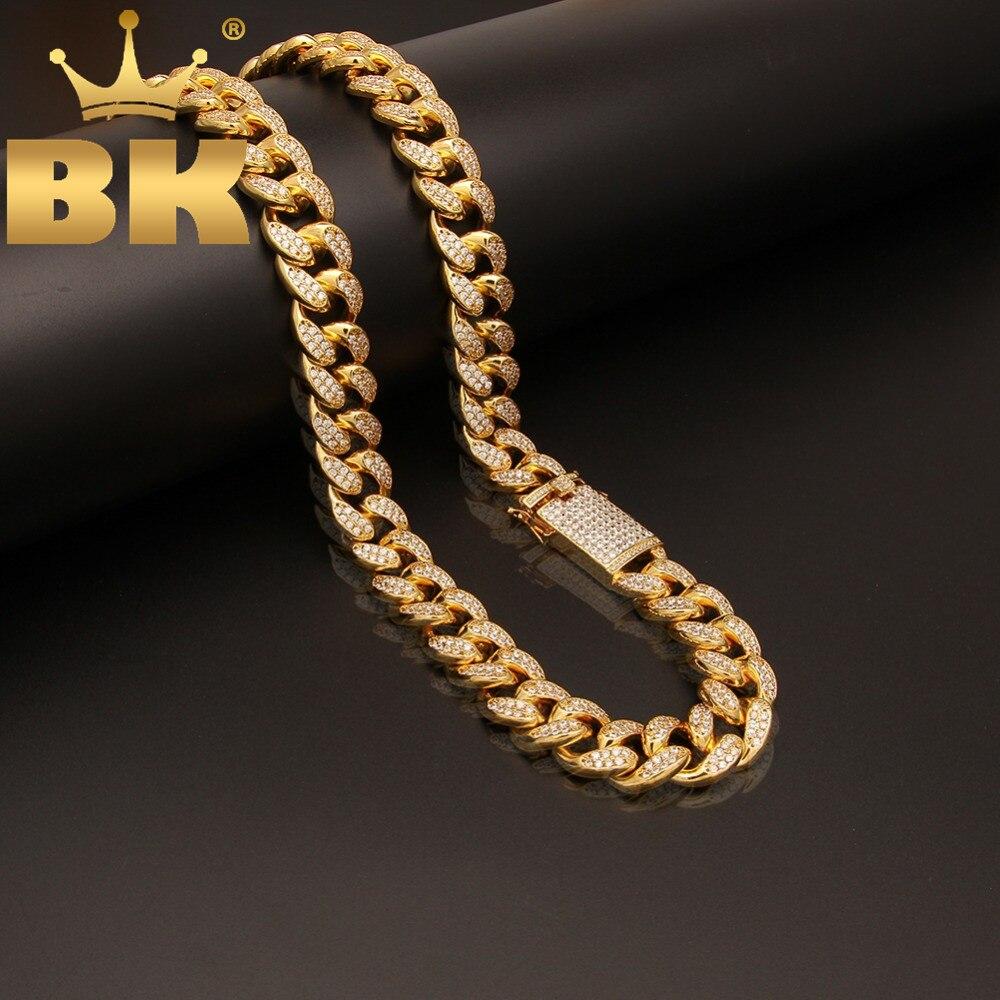 20mm largeur lourde chaîne à maillons cubains Micro Pave glacé cubique Zircon argent/or couleur colliers pour hommes Hiphop bijoux