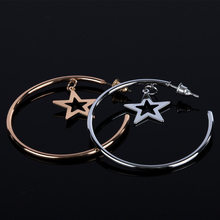 dy Gold Color Small Star Hoop Earrings for Women 2019 Ear Piercing Huggie Earrings Simple Jewelry Bijoux Brincos(China)