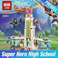 Lepin 29001 712 unids serie de la muchacha el super hero alta set escolar niños educativos bloques de construcción de ladrillo juguetes modelo de regalo 41232