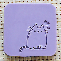 2016 Free Shipping Natural Handmade Acrylic Soap Seal Stamp Mold Chapter Mini Diy CAT Patterns Organic