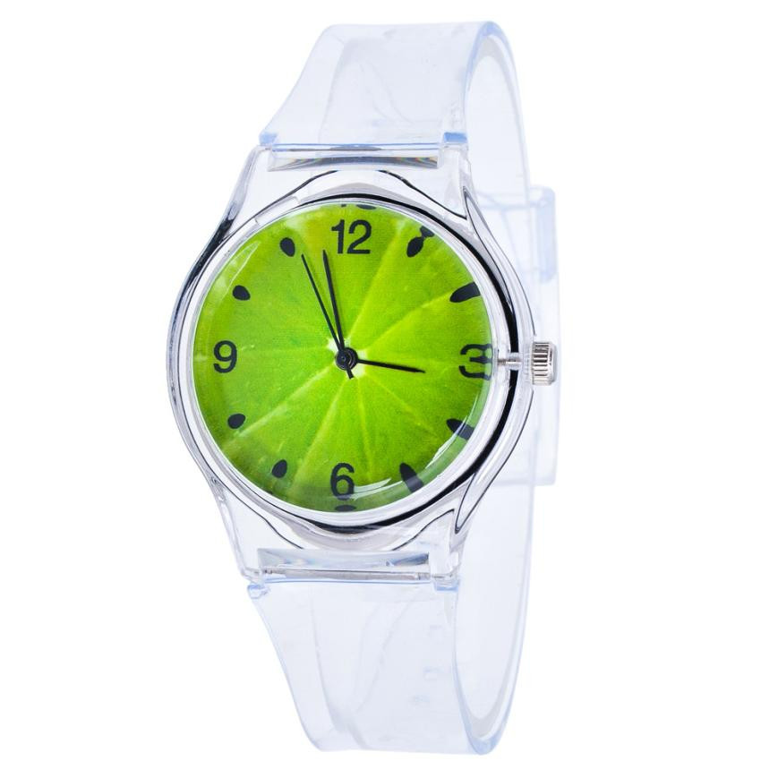 New Watch Transparent Clock Silicone Watches Women Sport Quartz Wristwatches Novelty Crystal Ladies Watch Cartoon Reloj Mujer
