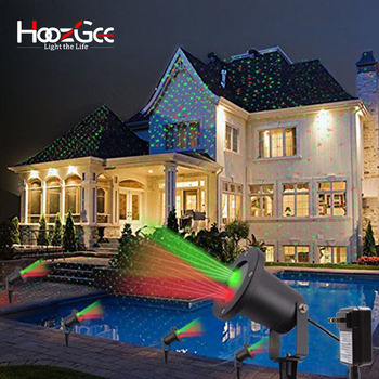 HoozGee Ã�ラッドライトスターカラフルなプロジェクターランプクリスマスレーザースポットライト LED Ȋ�生 Ktv DZ�国プラグ