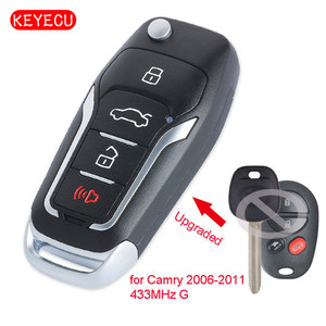 Keyecu Upgraded Folding Remote Key Fob 433MHz G Chip for Autralian Toyota Camry 2006-2011