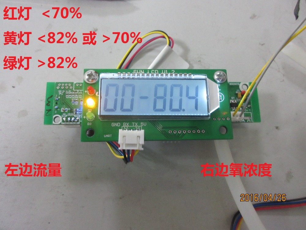 Concentration ultrasonique d'oxygène/capteur de débit ultrasonique, capteur d'oxygène, machine de fabrication d'oxygène