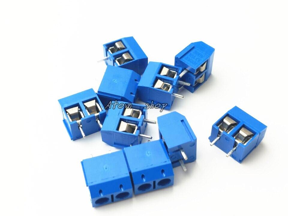 20 PCS KF301-5.0-2P blue KF301-3P Pitch 5.0mm KF301-2P Straight Pin PCB 2 Pin 3 Pin Screw Terminal Block Connector useful 20 30 100 200pcs pitch 2 54mm splice straight pin pcb 2pin 3pin universal screw terminal block connector for pcb wiring