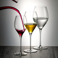Lead free crystal handmade red wine glass high end home 2 sticks Bordeaux wine glass color box