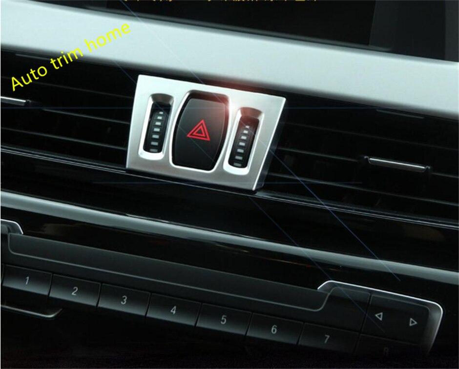 Lapetus avant climatisation AC sortie Vent Trackwheel cadre garniture 3 pièces mat intérieur pour BMW X1 F48 2016-2019 ABS