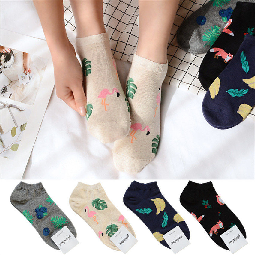 2018 New Flamingo Cartoon Kids Socks High Quality Cotton Sox Japanese Fashion Style Sock ...