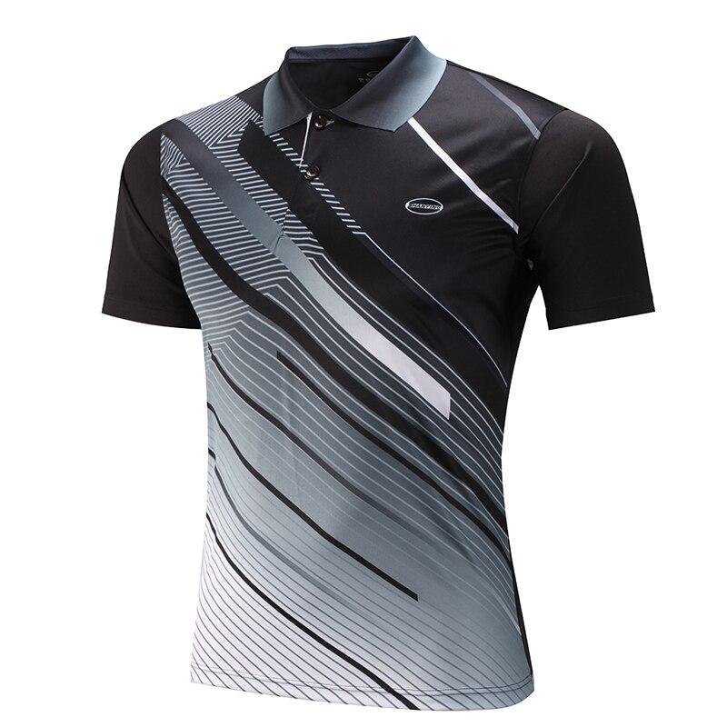 Men tennis shirts golf shirts sports series wicking for Name brand golf shirts