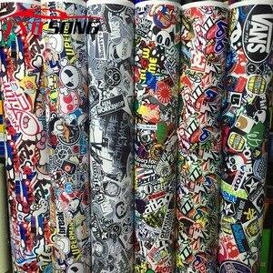Image 4 - Autocollant bombe, revêtement vinyle, bombe, crâne, dessin animé JDM imprimé moto, moto, Scooter, Film demballage