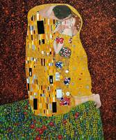 High quality Oil painting Canvas Reproductions The Kiss by Gustav Klimt Painting hand painted