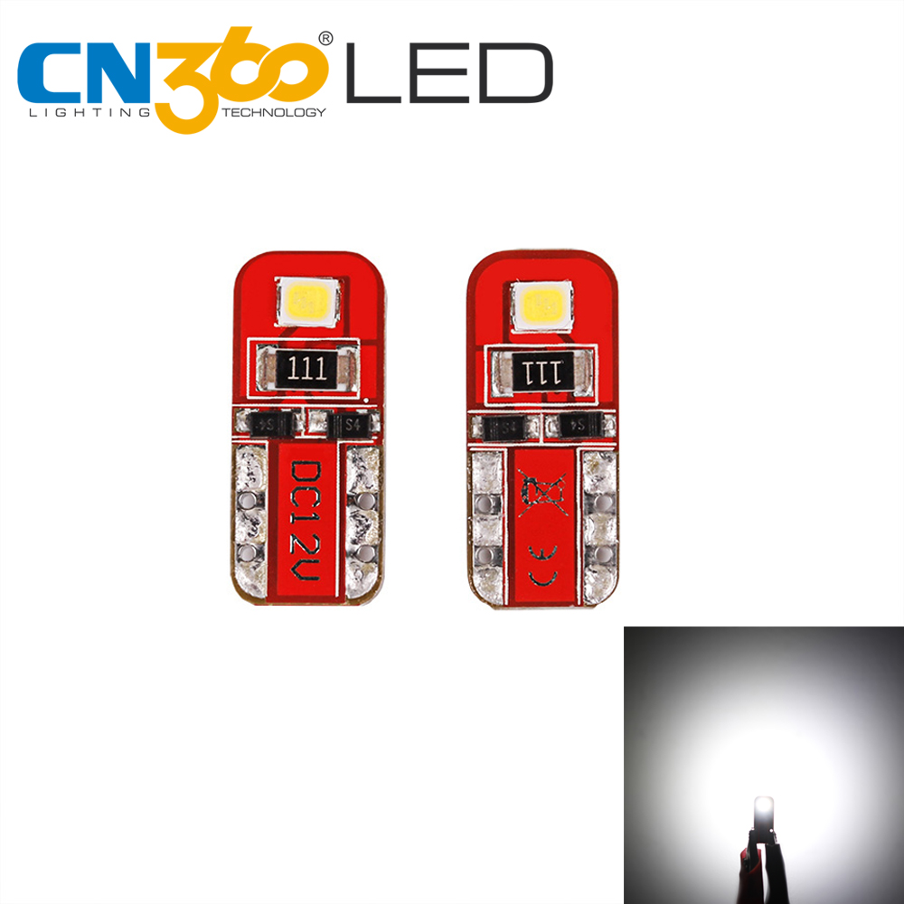 CN360 2pcs SMD Light T10 W5W LED Bulb 12V 168 194 Car LED Parking Lights Side Wedge Reading Lights Signal Lamp White Nonpolar