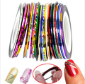 30pcs/set  DIY Fingernail Decoration Fashion Nail Art Gel Painting Rolls Striping Tape Gummed Nail Stickers Nails Tool unhas