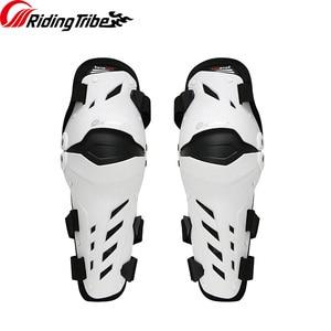Image 3 - 3 colors PRO BIKER 2018 Motorcycle knee protector Knee sliders motosiklet knee Protective Gear Protector Guards Kit