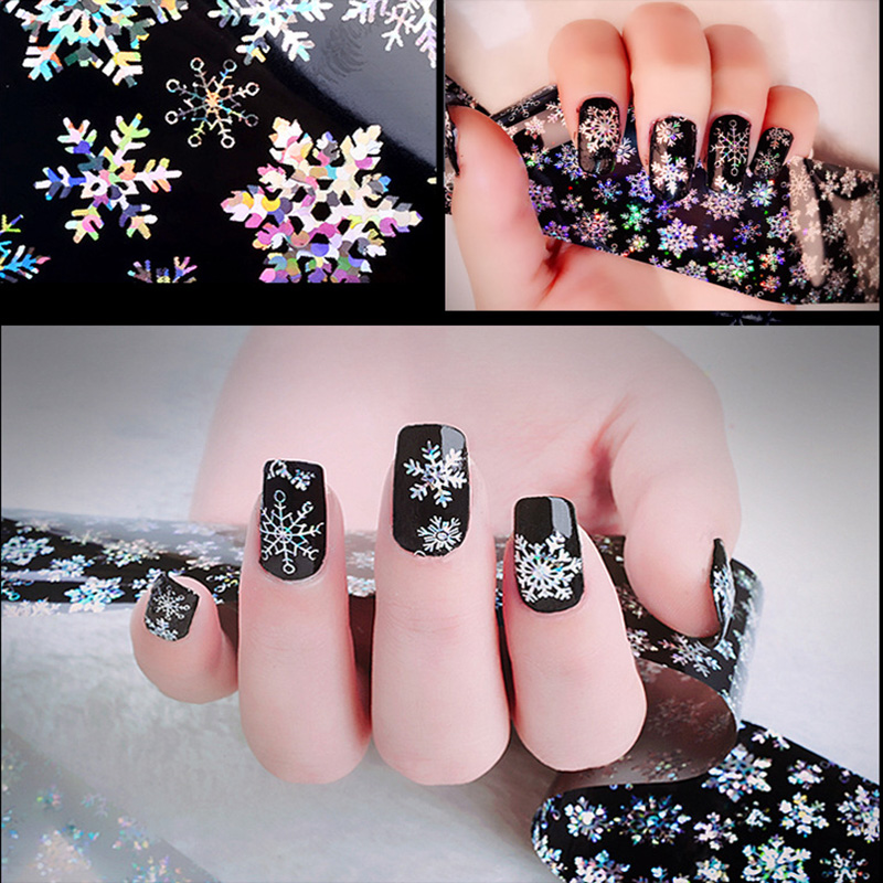 1 Roll New Arrivals 3D Fantasy Snowflake Nail Art pattern Stickers Nail Manicure Tools image