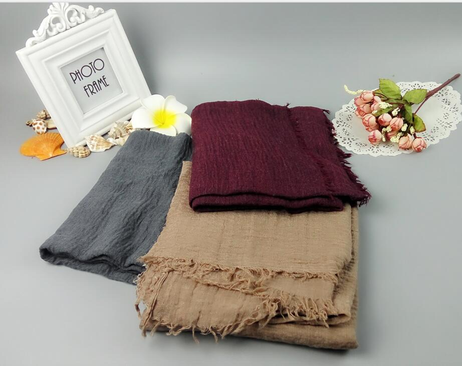 M78 Hot sale print Oversize Plain pashmina shawls scarf Muslim hijab scarf...