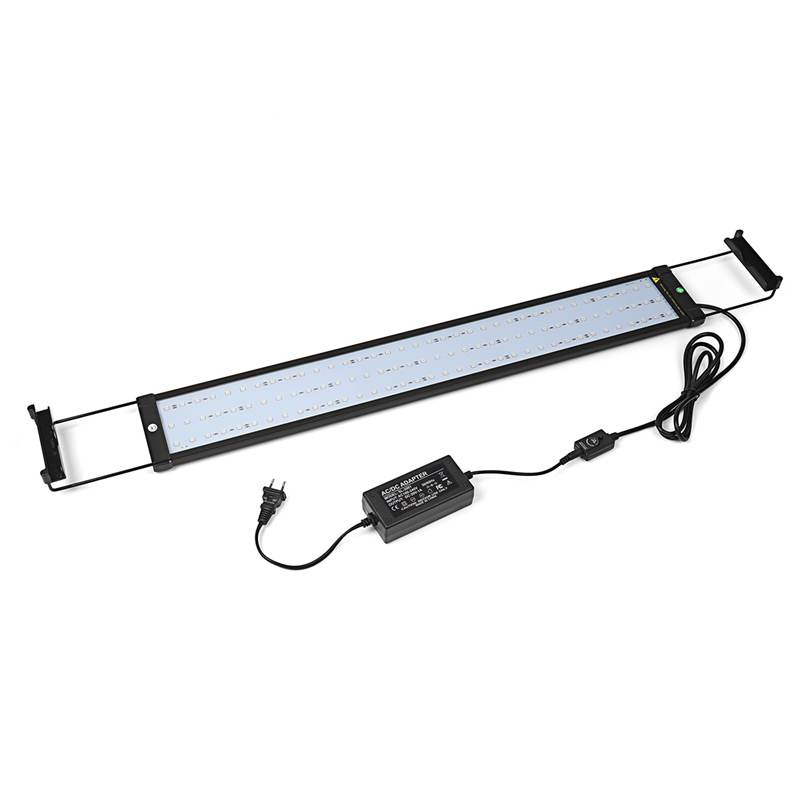 72cm RGB Aquarium Fish Tank Light 5050 SMD 108 LED 18W Multi Color LED Plant Light Bar With Remote Control 110-240V US/EU Plug 15w aquarium clip lamp fish tank light led display intelligent touching control changeable light color temp inductor water plant