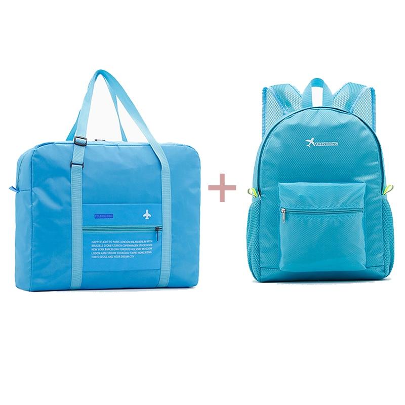 2019 Fashion Women Travel Bags Unisex Luggage Bags Nylon Folding Large Capacity Luggage Travel Bags Portable Men Handbag Wholesa