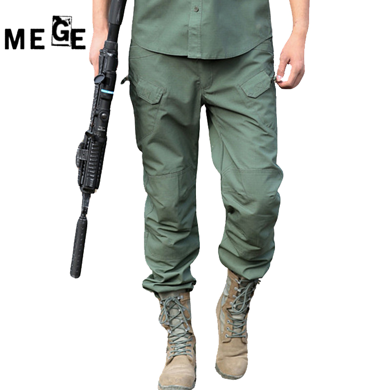 MEGE Brand Cargo Pants For Men, Outdoor Army Sports Trousers, Ripstop SWAT Paintball Airsoft Pants, Mens' Hunting Hiking Pants ganyanr brand military tactical cargo outdoor long pants men army training cotton hunting hiking outdoors sports trousers solid