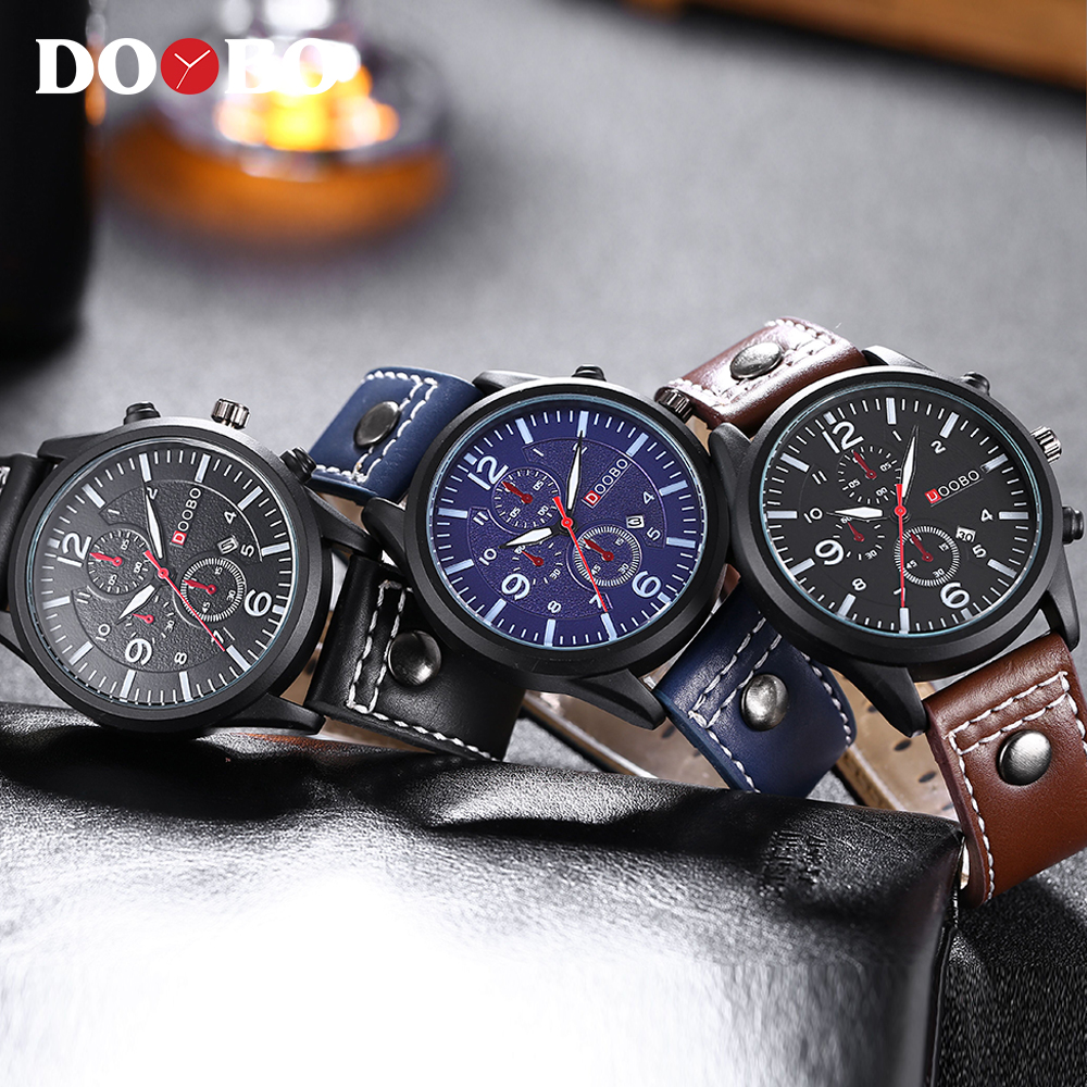 DOOBO D014 Top Brand Luxury Men Fashion Casual Watches Men Sport Military Quartz Analog Date Clock Man men Wristwatch leather xinge top brand luxury leather strap military watches male sport clock business 2017 quartz men fashion wrist watches xg1080