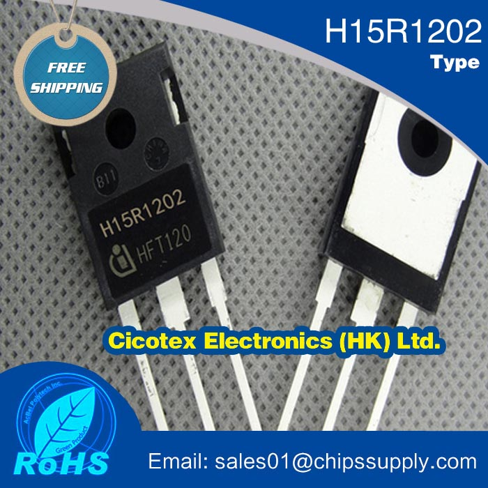 Electronic components Igbt H15R1202 15a 1200v electromagnetic furnace igbt tube