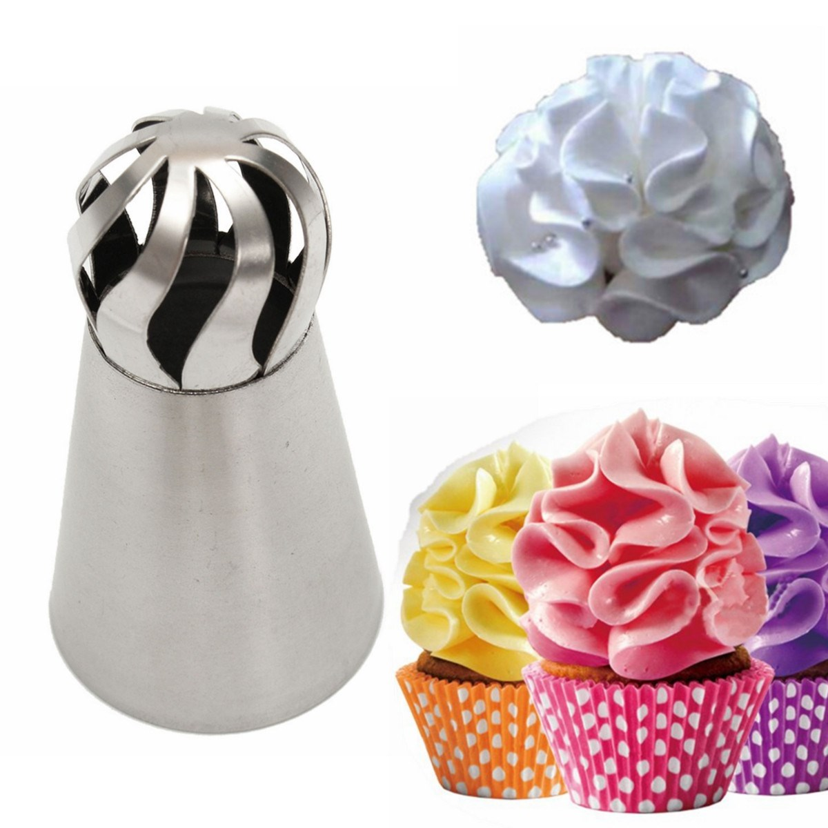 Sphere Ball Shape Stainless Steel Nozzle Cake Sugarcraft