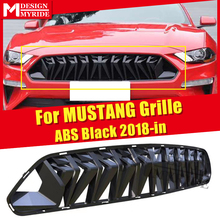 For MUSTANG grille grill ABS gloss black 1:1 Replacement Fit For Ford MUSTANG LCI Front Bumper grills Car styling Decoration 18- цена