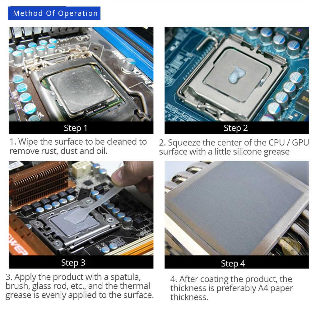 10 Chiếc Tishric Bạc GD900 Nhiệt Dầu Mỡ CPU GPU Tản Nhiệt Hợp Chất Dán Dẫn Điện Keo Silicone 1G CPU Quạt tản Nhiệt