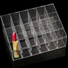 Clear 24PCS Lipstick Makeup Cosmetic Stand Display Rack Holder Case
