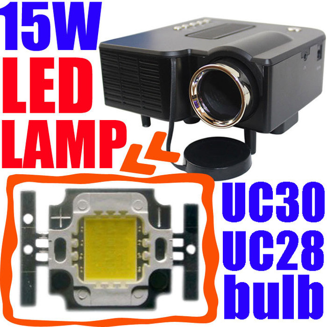15W LED Bulb For Popular Mini Projector UC 30 UC28 GM40 Proyector Lamp Wick Burner