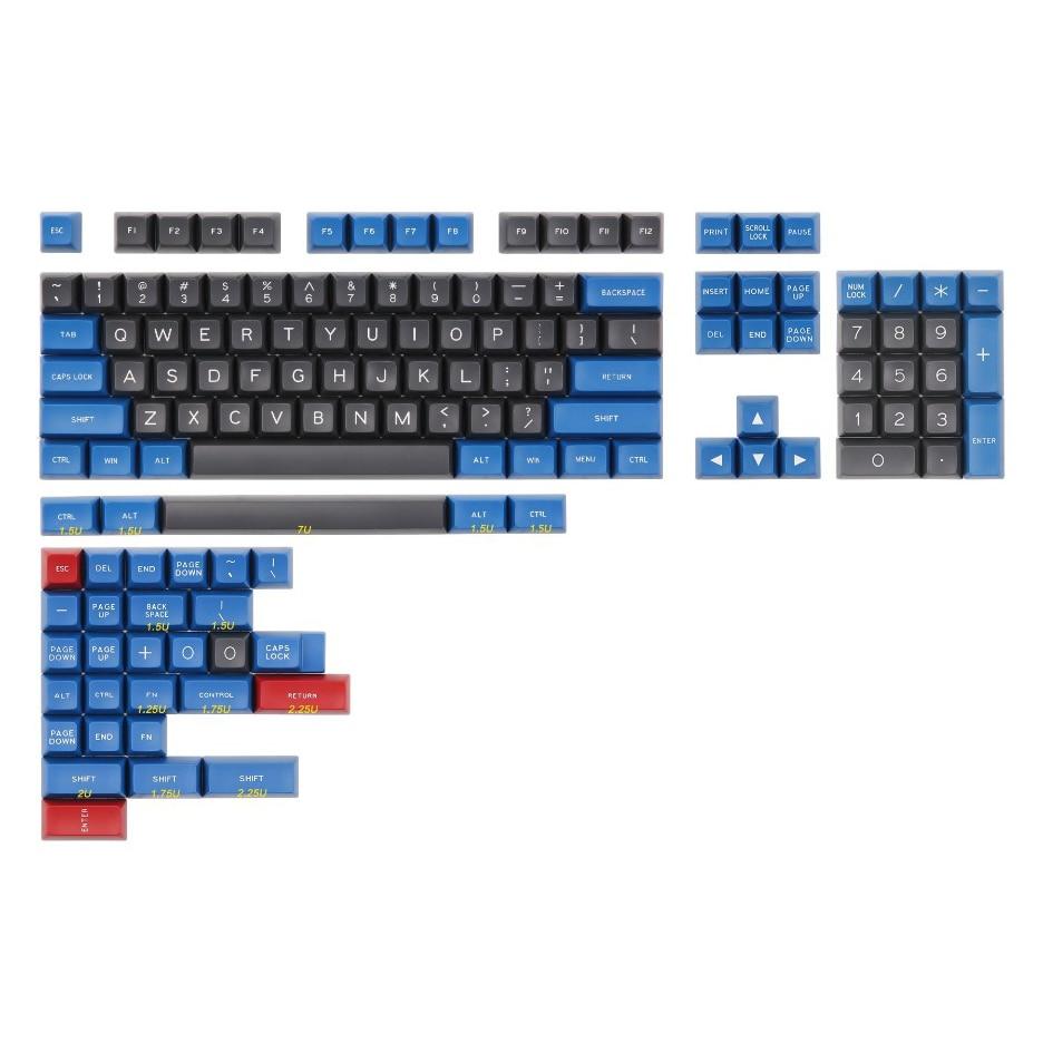 MAXKEY Blue and Gray SA keycap Doubleshot ABS 137 keys for cherry mx mechanical keyboard