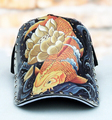2015 snapback  Baseball Cap  tattoos are goldfish personality tide cap original hand drawn  of fish pattern cap gorras