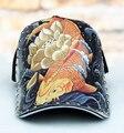 2015 snapback do Boné de Beisebol tatuagens são desenhadas à mão de peixe peixinho personalidade maré cap original padrão cap gorras