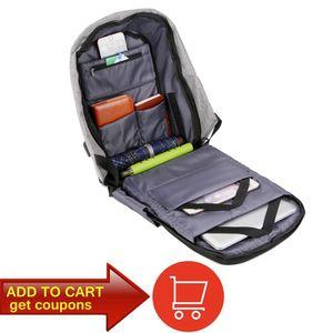 Image 4 - Men Anti theft Backpack USB Charging 15.6 Laptop Backpack Multifunction Waterproof Travel Bagpack women High Quality School bag