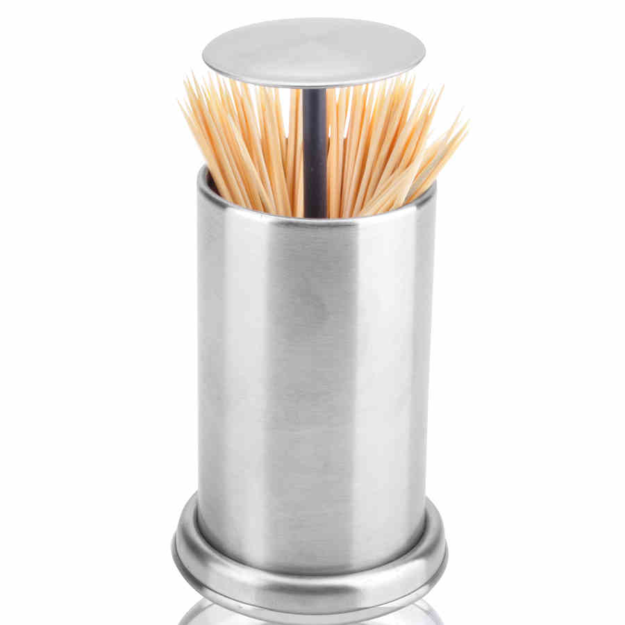 Portable Automatic Toothpick Holder Stainless Steel