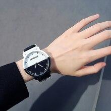 Разные виды Харадзюку стиль дикая индивидуальность черные и белые пара часов корейские студентов простой тренд Мода Досуг tide