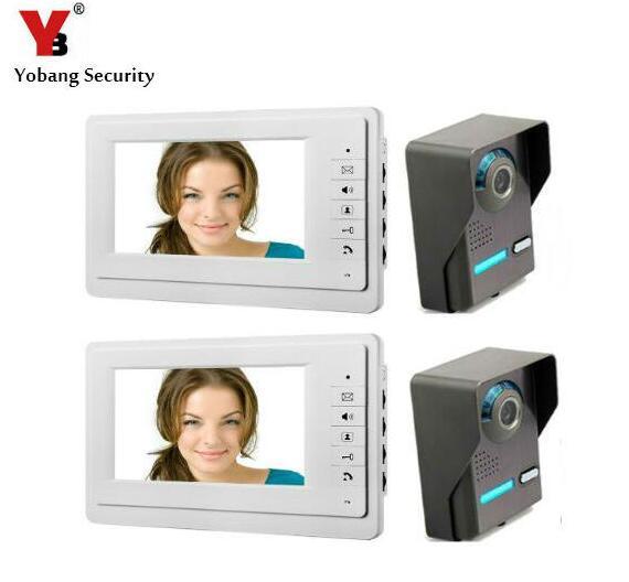 Yobang Security Video Intercom Doorbell System Dual-way Door Intercom For Villa Home Security Systems Interphone Doorphone system security through log analysis