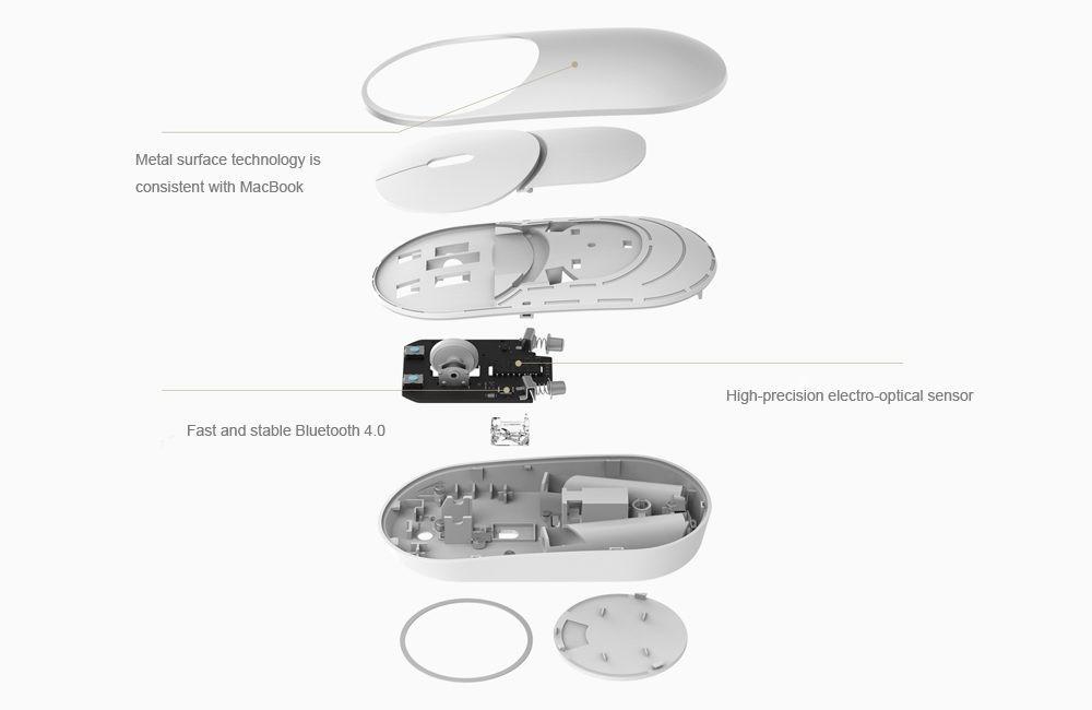 Souris Xiaomi Mi mouse Bluetooth 2.4G en aluminium double mode prix maroc