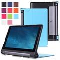 "Karst ultra slim folio couro caso capa protetora da pele para o lenovo yoga tab3 10 yt3-x50m x50f x50l 10.1 ""polegadas Tablet PC"