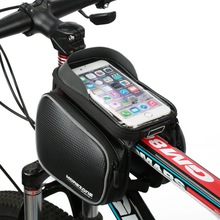 Nueva Prueba de Agua Ciclismo Bike Frente de La Bicicleta Bolsa de Tubo Superior Del Marco bolsa Pannier Doble Bolsa para 4-5.5 pulgadas Teléfono Móvil teléfono