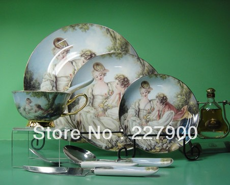 England Bone China Porcelain dinner sets Western Portrait Pattern Dinner  Sets UK Serving Bowls Spoon Forkporcelain cookware sets Picture   More Detailed Picture about  . Fine Bone China Dinnerware Sets Uk. Home Design Ideas