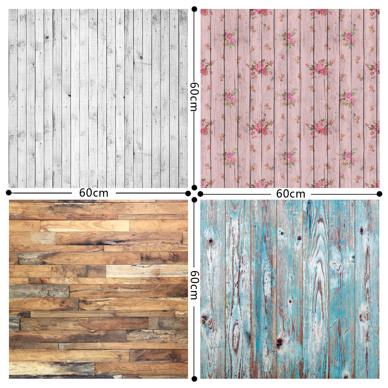 HUAYI 4pc 2x2ft wood floor backdrop vinyl photography backdrops photo props background Small object shooting GY-005 retro background wood floor photo studio props photography backdrops vinyl 5x7ft