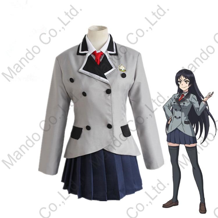Anime Shimoneta to Iu Gainen ga Sonzai Shinai Taikutsu na Sekai Kajo Ayame Cosplay Costumes Grils school uniform dress Halloween