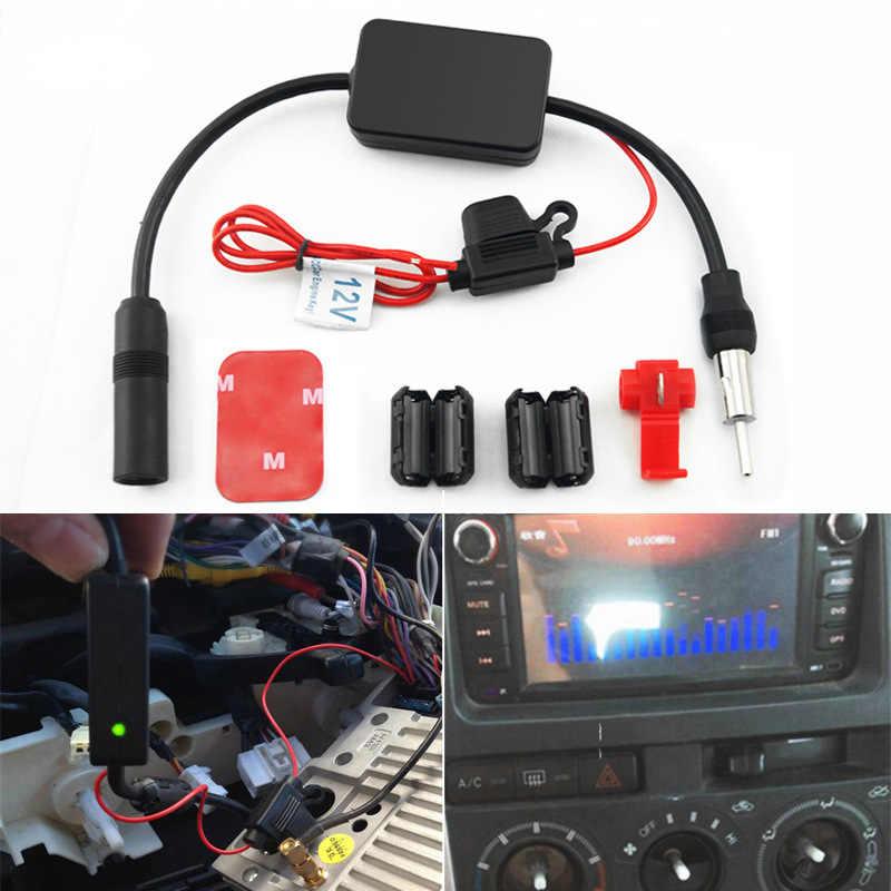 Авто FM/am антенна усилитель лобового стекла антенна воздушный автомобиль антенна 12 в автомобильный усилитель радиосигнала