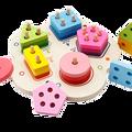 Детские игрушки  обучающая доска с геометрическим рисунком  Обучающие Детские игрушки  строительные пазлы  детский подарок