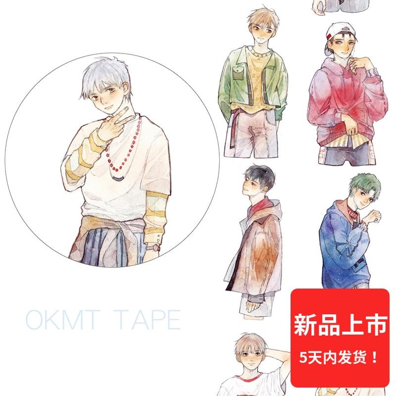 Handsome Hip-hop Boy Washi Tape 3.5cmX5M Office Masking Tape Bullet Journal Decoration Washitape Cute Stationary gig journal hip hop