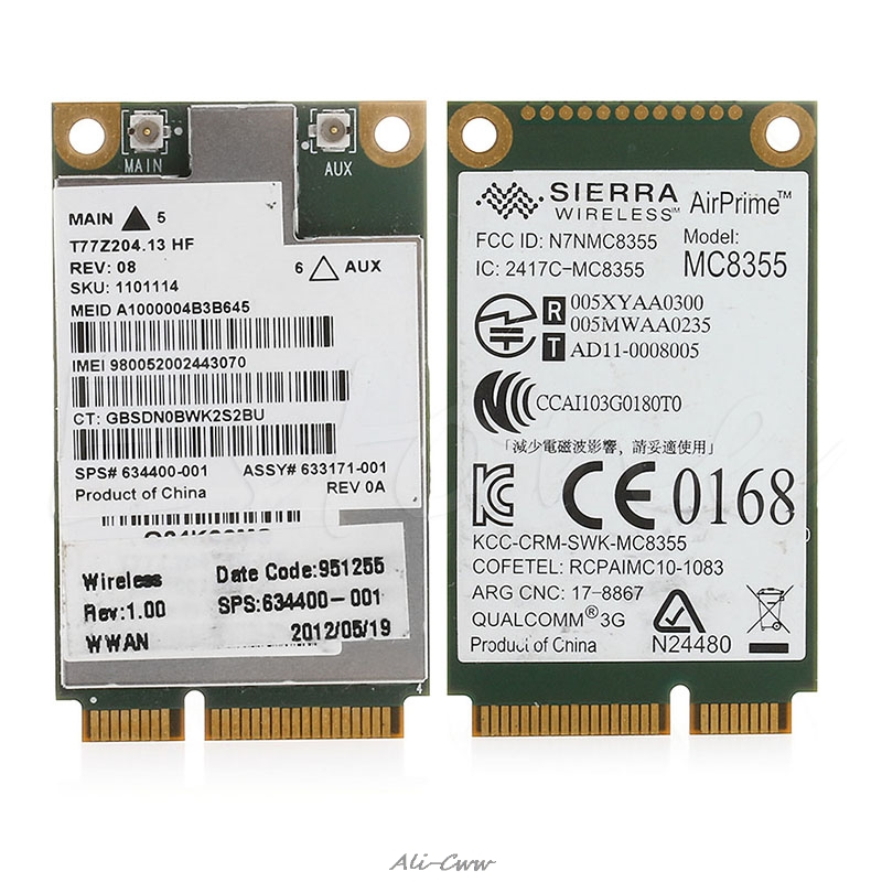 Wireless Card For HP 2560P 2760P 8460W 8760W 8560W 3G GOBI3000UN2430 634400-001