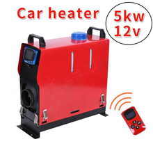 Car Parking Heater 5KW 12V Car Heater For Trucks Motor Homes Boats Bus LCD Screen key Switch Remote Control 1/4 Holes 5000w air diesels heater 5kw 12v car heater for trucks motor homes boats bus newest lcd key switch silencer